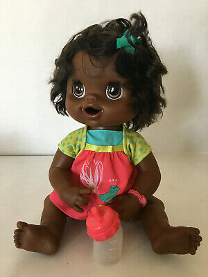My Baby Alive 2010 Interactive Talking African American Black Doll Real Hair