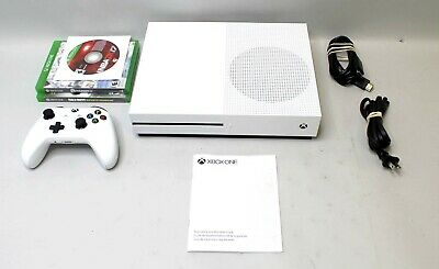 Microsoft Xbox One S 1TB Console - White TESTED Model 1681 w/ 3 Games