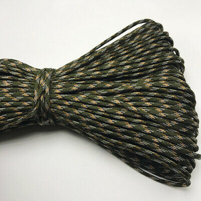 550 Paracord Parachute Cord Lanyard Mil Spec Type III 7 Strand Core 25FT HOT35