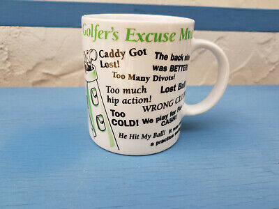 Golfers Excuse Mug Funny Golfing Quotes Sayings Phrases Golf Lovers Cup White