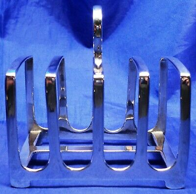 ART DECO SOLID SILVER TOAST RACK BY Z BARRACLOUGH SHEFFIELD 1915 ~ WEIGHS 74.2 g