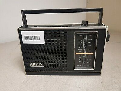 Vintage Sony Solid State AM/FM 2 Bands Radio TFM-7100W Used Tested Working