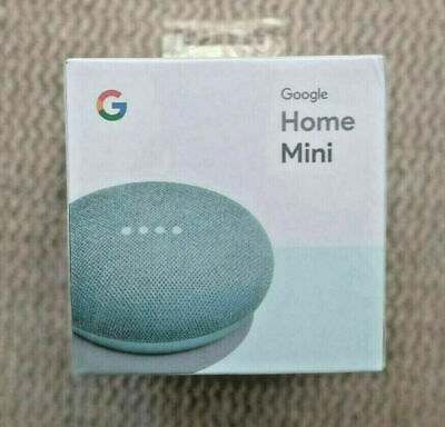 Google Home Mini GA00275-US Smart Speaker with Google Assistant - Aqua Blue