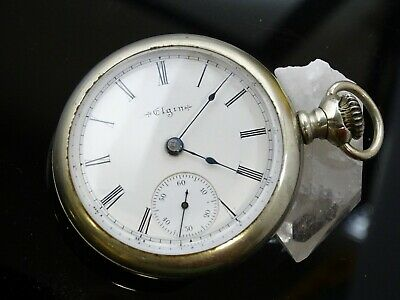 Antique Elgin National Watch CO Pocket Watch STAR Case 15 Jewels 1897 18S