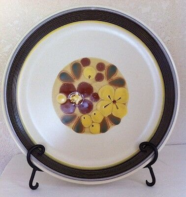 Japan Noritake Folkstone SILK ROAD Brown Yellow Floral CHOP PLATE PLATTER 12""