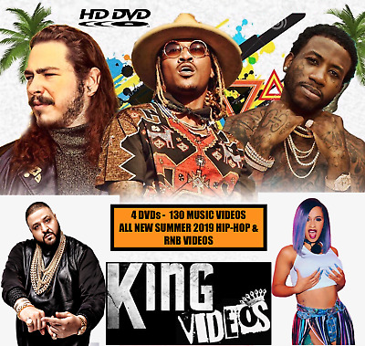 SUMMER 19 HipHop Rap & RnB 130 Music Videos 4 DVDs + FREE 2PAC DVD, 5 Total DVDs