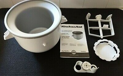 Kitchenaid Ice Cream Maker Bowl Attachment For Use W/ Stand Mixers - Complete