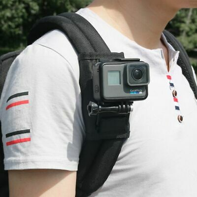 Sports Camera Backpack Clip Mount 360 Degree Rotation For Xiaomi Yi Gopro Hero