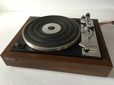 Vintage HTF Sanyo TP 600SA Turntable SERVICED TESTED NEW BELT & STYLUS MINTY!