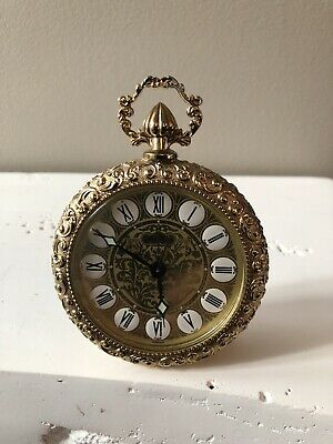 Vintage Ornate Seth Thomas Wind-Up Alarm Clock Made In Germany For Repair Nice!