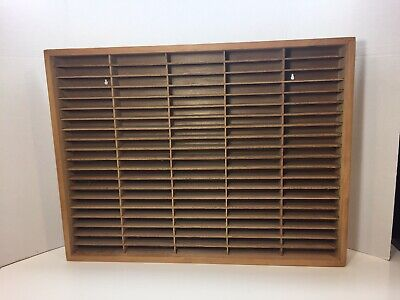 100 Slot Wood Wooden Cassette Tape Storage Rack Napa Valley Box Company ??