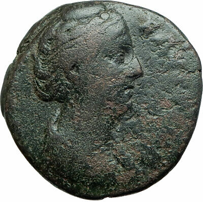 FAUSTINA I Senior Antoninus Pius wife 141AD Ancient Roman Pietas Loyalty i79338