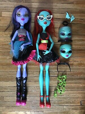 "Monster High Pair. 28"" Voltageous Walmart Exclusive Eye Changing Dolls"
