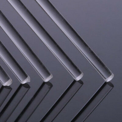 "Clean Acrylic Rod PMMA Round Lucite Plastic Bar Dia 14-30mm L 500mm/20"" US"