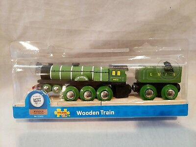 Wooden Railway Flying Scotsman Train Rare Big Jigs New In Box
