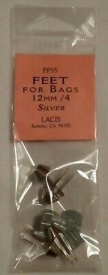LACIS FF55 feet for knitted felted bags totes purses 12mm - 4 count - Silver