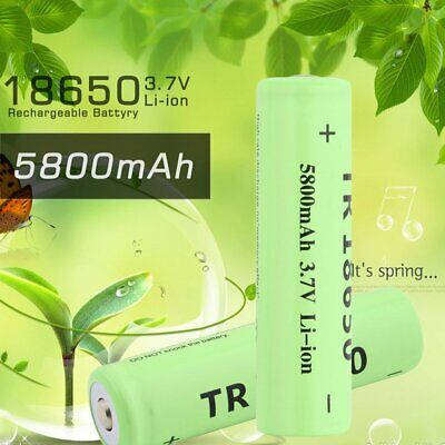 3.7V 5800mAh 18650 Li-ion Rechargeable Battery for LED Torch Flashlight CT
