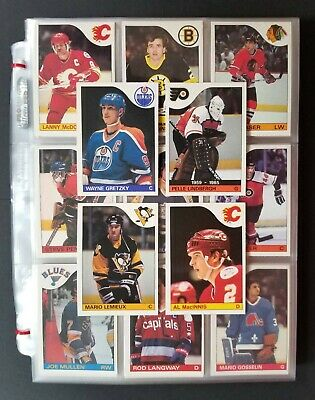1985-86 O-Pee-Chee OPC Hockey Complete Set Lemieux HoF Gretzky RC NM-MT Overall