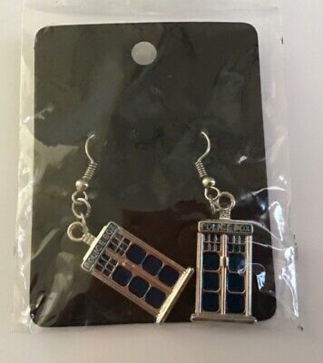 Dr Who Tardis Earrings. New /Sealed. Free Postage.