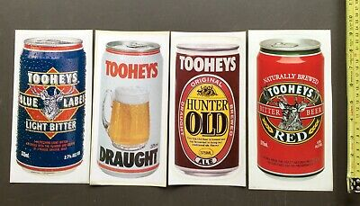 Toohey's Cans. Original Stickers / Decals. x 4