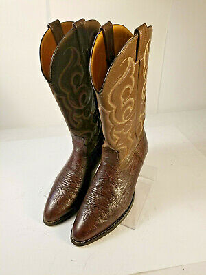 8e903e9f986 UNBRANDED LEATHER BUCKAROO Cowboy Western Boots Brown Men's 12 D ...