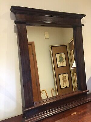 Lovely Large Antique Mahogany Mirror