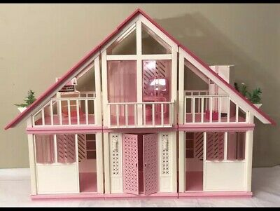 VIntage MATTEL BARBIE DOLL A FRAME DREAM HOUSE w ACCESSORIES/FURNITURE  1978