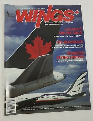 Wings Aviation Magazine Back Issue December / January 1999 Canada's Airline Saga