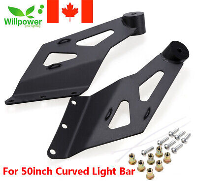 Top Windshield Roof 50inch Curved Led Light Bar Brackets Offroad Mounting Mounts