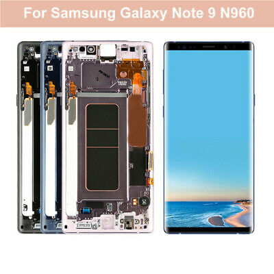 For Samsung Galaxy Note 9 N960U LCD Screen Touch Digitizer + Frame Replace RHN02