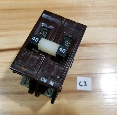 Wadsworth 40 Amp 40A Double or 2 Pole Circuit Breaker As Pictured    C3