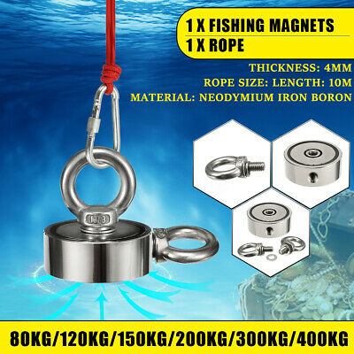 Strong Recovery Ring Round Neodymium Pull Eyebolt Salvage Fishing Magnet Hook