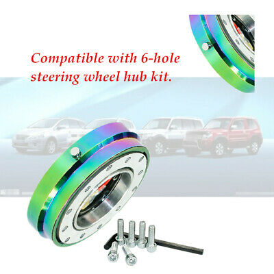 Aluminum Car Steering Wheel Quick Release Short Hub Adapter Corrosion Resistant