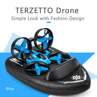JJRC H36F TERZETTO Drone Boat Car 3-Mode Altitude Hold RC Quadcopter Ground F1B4