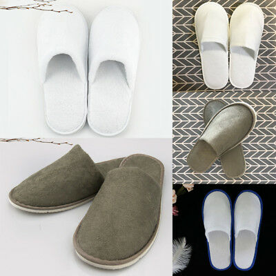 3ee3a3df38607 1 Pairs/Lot Disposable Closed Toe Guest Slippers Terry Hotel SPA Slipper  Shoes