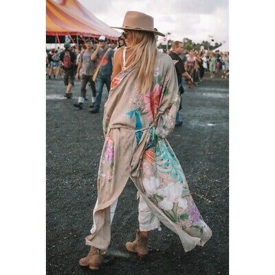 Spell & the Gypsy Collective, Waterfall Maxi Kimono, M/L, BNWOT, Taupe, 🌺