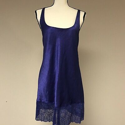VICTORIA'S SECRET Women's Sleeveless Nightgown Purple Size M