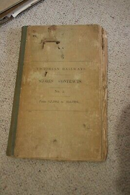 Victorian Railways Stores Contracts Book 1932 To 1933