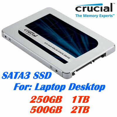 Crucial MX500 Solid State Drive 250GB, 500GB, 1TB, 2TB SSD for Laptop Desktop PC