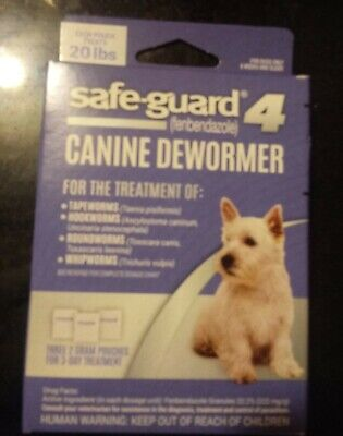 8in1 Safe Guard Canine Dewormer Medium Pouch Treats 20 Lbs 3 Packs Exp 12/19