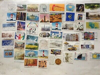 GERMANY 2001-2018 100 USED STAMPS OFF PAPER from kiloware
