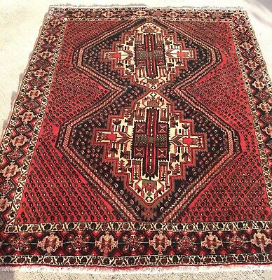 Tapis persan Irann Afshar 196x156cm Alfombra Rugs Carpet Nomades Teppich