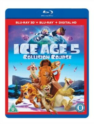 Ice Age 5: Collision Course 2D & 3D (BLU-RAY 2 DISC, 2016) *NEW/SEALED* FREE P&P