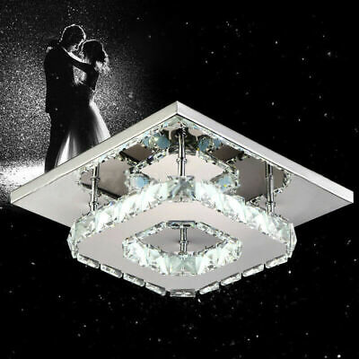 Modern LED Crystal Ceiling Light Fixtures Room Chandelier Dimmable Pendant Lamp