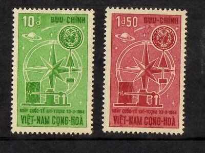 VIETNAM 1964 n°216/217 4th World Meteorological Day
