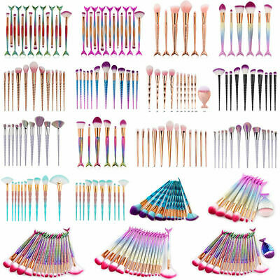 Unicorn Diamond Makeup Kabuki Brushes Foundation Powder Eyeshadow Blush Brush
