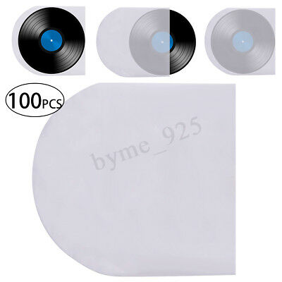 100PCS 12'' LP LD Vinyl Record Antistatic Clear Plastic Cover Inner Sleeves