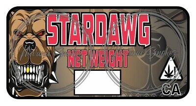 StarDawg Strain Labels / Cali Stickers - Fits Pop Tops + Mylar Bags & More