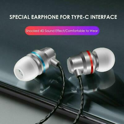 Stereo Headphones For USB-C Type-C Earphone With Mic Wire-controlled Top