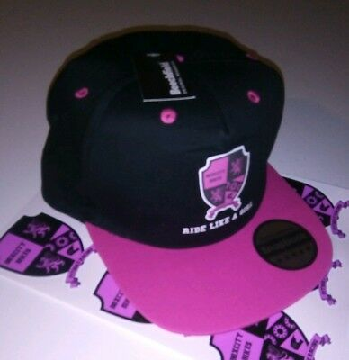 Boxcity Pitbike Racing Snap-Back Cap - Black & Pink  NEW - Pit bike